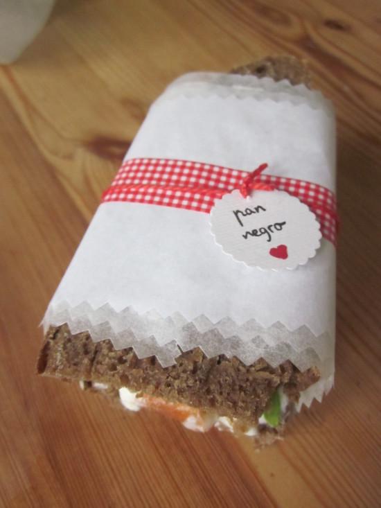 bocadillo de pan casero