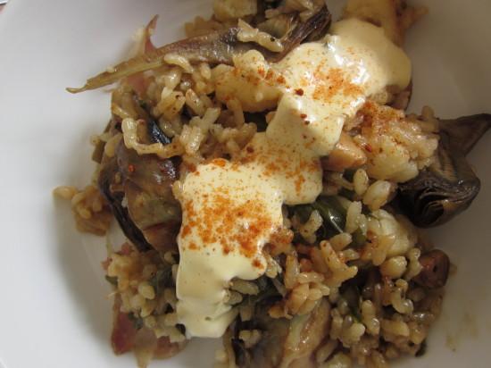 arroz de verduras y ajos