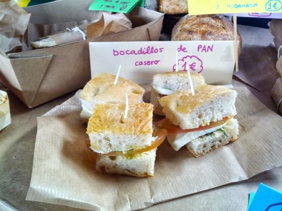 bocadillos de pan italiano