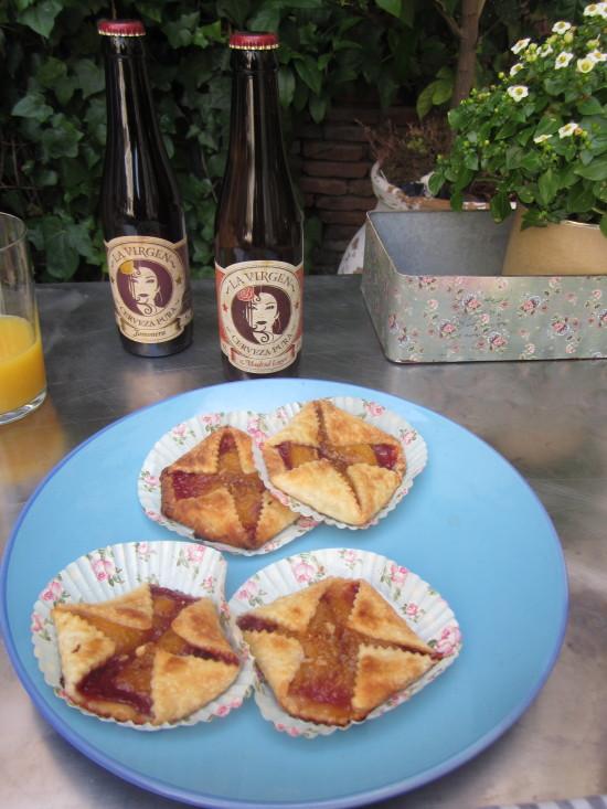 tartas de verano: fresa y melocotón