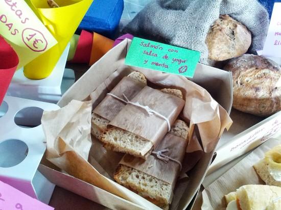 bocadillos de pan casero